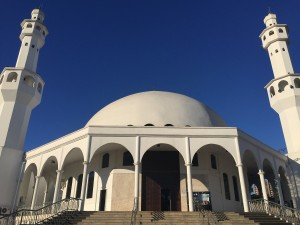 A view of the Mosque of Omar Ibn Al-Khattab in Foz do Iguacu